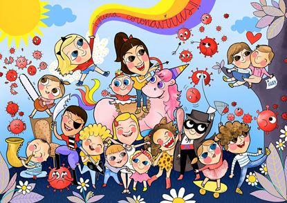 Image de Coloreable Niños contra el virus